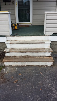 stairs before husband for hire's work